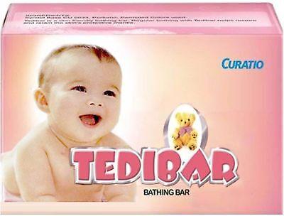 4x 75gm Curatio Tedibar Soap Free Of Harmful Alkali For Soft Supple Healthy Skin