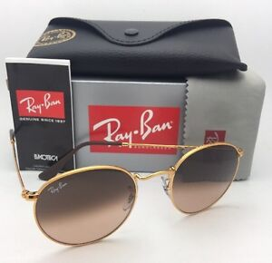 cf5e56878a RAY-BAN Sunglasses ROUND METAL RB 3447 9001/A5 50-21 Bronze with ...