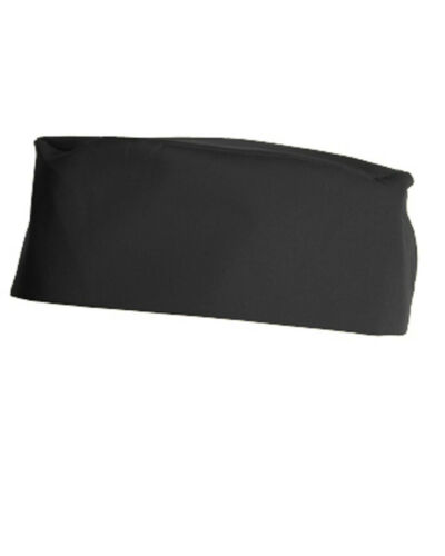 DENNYS BLACK SKULL CAP CHEF KITCHEN RESTAURANT COOKING STAFF UNIFORM COMFORTABLE