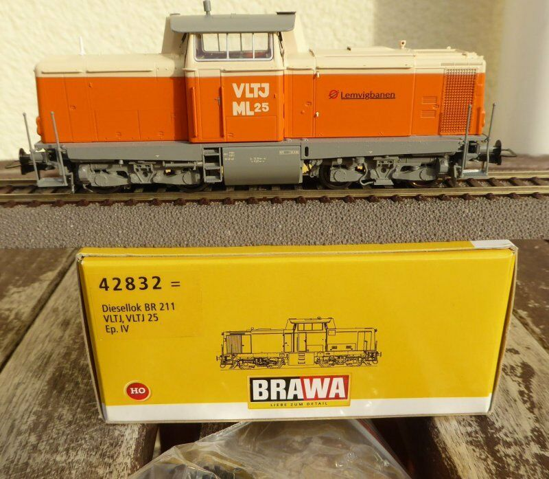 Brawa 42832 H0 Locomotiva Diesel Vltj Ml 25 Lemvigbanen Ex Db V 100 Ep.4 6 con