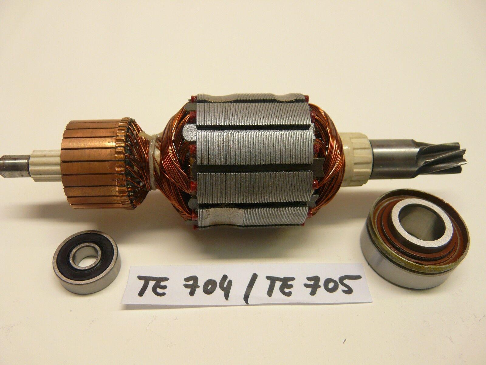 Hilti TE 704   TE 705 Rotor, Anker mit beiden Lagern vom Rotor