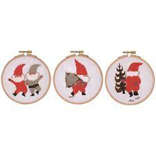 DMC Cross Stitch Kit - Tomte, Sack, Tree Including Embroidery Hoop Christmas