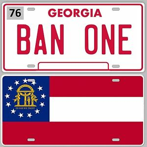 Smokey-and-the-Bandit-BAN-ONE-amp-STATE-FLAG-LICENSE-PLATE-SET-Trans-am