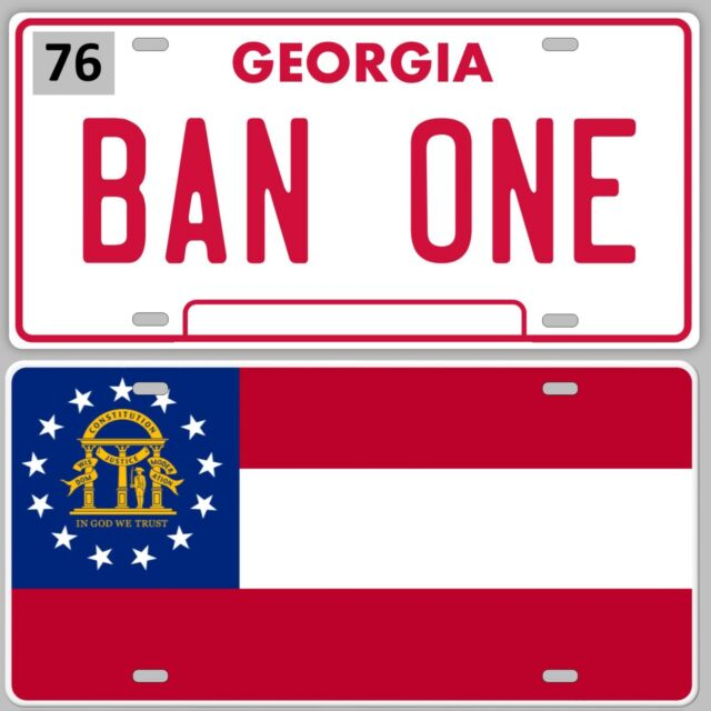 Smokey and the Bandit,   BAN ONE & STATE FLAG LICENSE PLATE SET, Trans-am