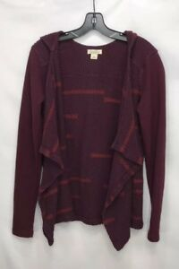 Womens-Lucky-Brand-Open-Front-Draped-Cardigan-Sweater-Hoodie-Size-Medium