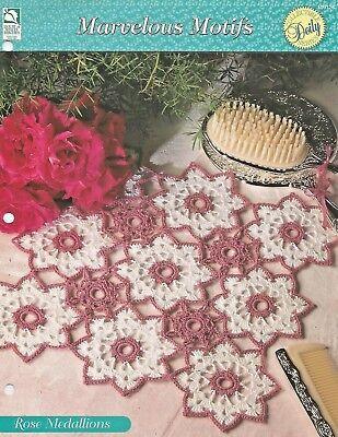 Elegant Ruffles crochet pattern leaflet Calla Lily Doily Topper ~ Round Floral