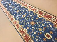 2'.10 X 14'.1 Blue Red Ziegler Persian Oriental Rug Long Runner Hand Knotted