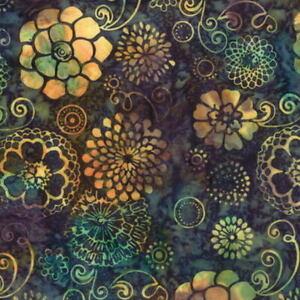 1-2-Yard-Hoffman-Batik-Bali-Chop-Graphic-Floral-K2477-363-Hollywood-Cotton-Batik