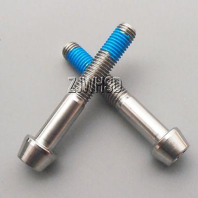 2pcs M7 x 10 Titanium Ti Screw Bolt Allen hex Taper Socket Cap Head+Threadlocker