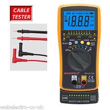 25334 AUTO Ranging DIGITAL MULTIMETER Network USB RJ11 RJ12 RJ45 CAVO TESTER