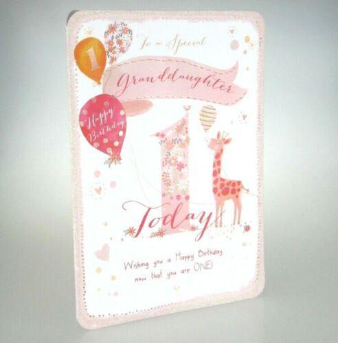 Lovely 1st Carte d/'anniversaire. 1 aujourd/'hui Joyeux Anniversaire Pour un spécial petite-fille