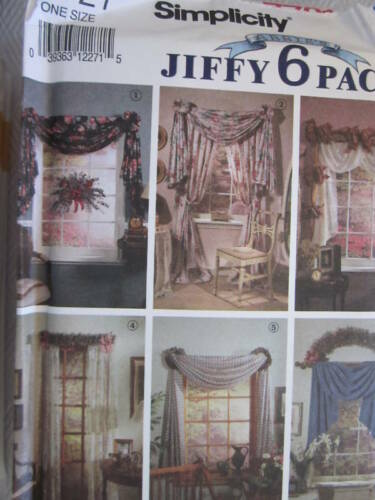 7721 UNCUT Simplicity SEWING Pattern Home Decor Window Treatments Valance FF OOP