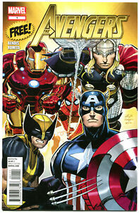 AVENGERS-SAMPLER-1-NM-Promo-2012-Thor-Wolverine-Iron-Man-Captain-America