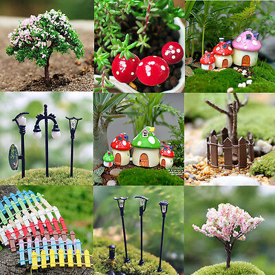 DIY Miniature Fairy Garden Lawn Ornament Decor Pot Craft Accessories Dollhouse