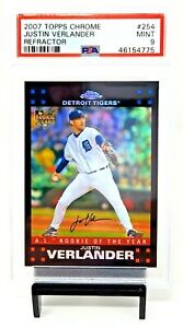 2007-Topps-Chrome-REFRACTOR-Astros-JUSTIN-VERLANDER-Rookie-Card-PSA-9-MINT-Pop22