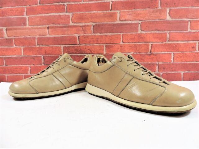 Paul Smith Homme Clair Chaussures en Cuir Fauve Baskets UK 8 Us 9 42