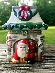 Mr Christmas Glass Santa Coming out of Chimney Music Box ...