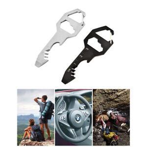 Steel Stainless Multi-Tool Key Shaped Pocket Tool for Keychain Bottle Opener Hot