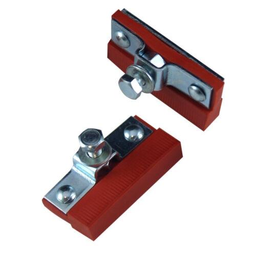 2x PATINS DE FREIN A TRINGLE GOMME ROUGE 40 mm VELO RETRO VINTAGE ANCIEN RALEIGH