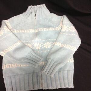ea4505d7aea GAP Kids Girls Sweater Cardigan Medium 8-10 Winter sky blue SNOW ...