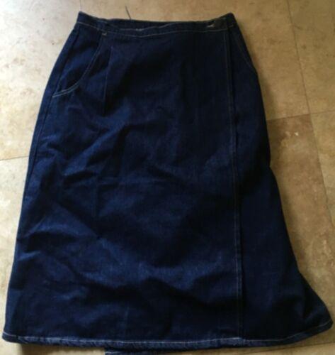 IZOD LACOSTE 1970s Vintage Denim Jeans Wrap Skirt