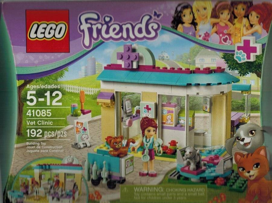 Vet Clinic Lego 41308 Mia Helps Cat Dog Medical Animals Imagination Playset NEW