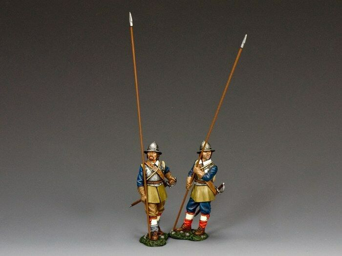 KING AND COUNTRY English Civil War greenical & Advancing Pikemen Royalist PnM-S06