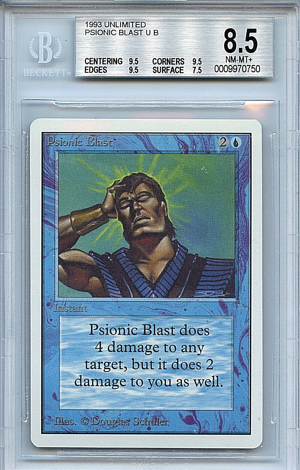 Mtg unbegrenzte psionische strahl bgs 8,5 nm   t + card magic the gathering wotc 0750