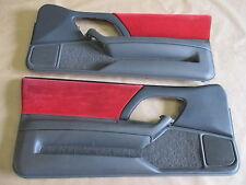 97 Camaro Z28 RS SS Door Panels Med Gray/Red Cloth LH RH Pair 0819-28