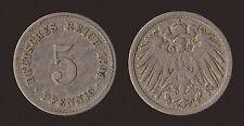 GERMANIA GERMANY 5 PFENNIG 1894 A