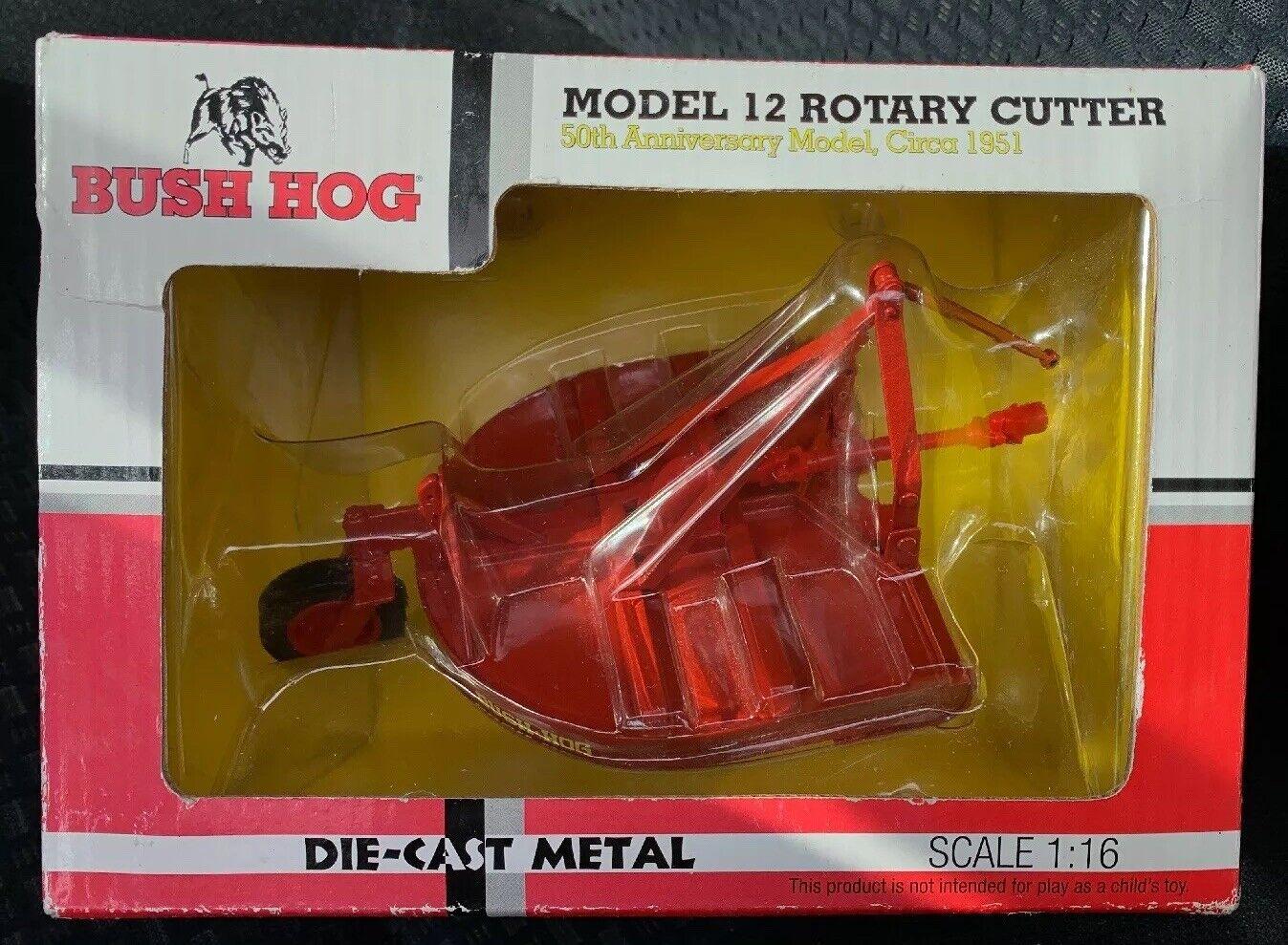 ERTL Bush Hog modèle 12 rougeary Cutter 50th Anniv, circa 1951 Die-Cast No. 91586