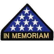 IN MEMORIAM VETERAN MILITARY HONOR EMBROIDERED IRON ON BIKER PATCH
