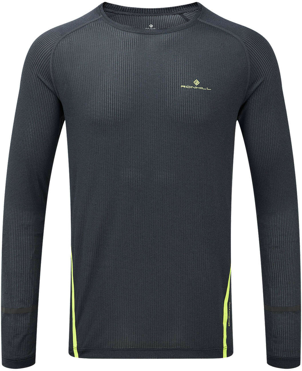 Ronhill Stride Long Sleeve Mens Running Top - Grey