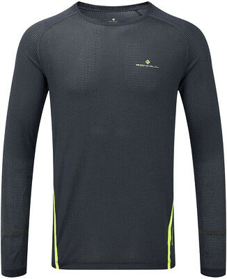 EntrüCkung Ronhill Stride Long Sleeve Mens Running Top - Grey