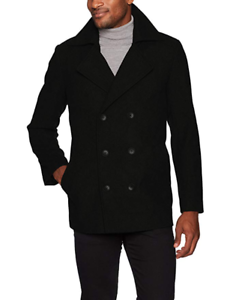 Hart-Schaffner-Marx-Men-039-s-Captain-Double-Breasted-Peacoat-LT-Large-Tall