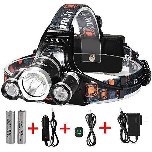 LED Headlamps Headlamp, 5000  Lumens Max 4 Modes Waterproof Flashlight Light With  big sale