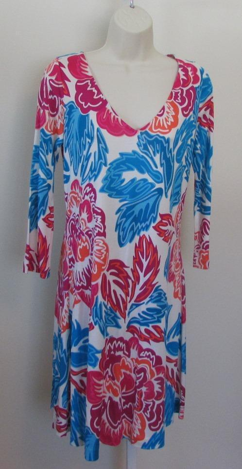 Diane von Furstenberg Kaden Giant Floral Multi dress shift 8 silk DVF new Rosa