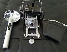MUST SELL NOW-BUSCH PRESSMAN MODEL D 4X5 PRESS CAMERA w/Busch Synchronizer Flash