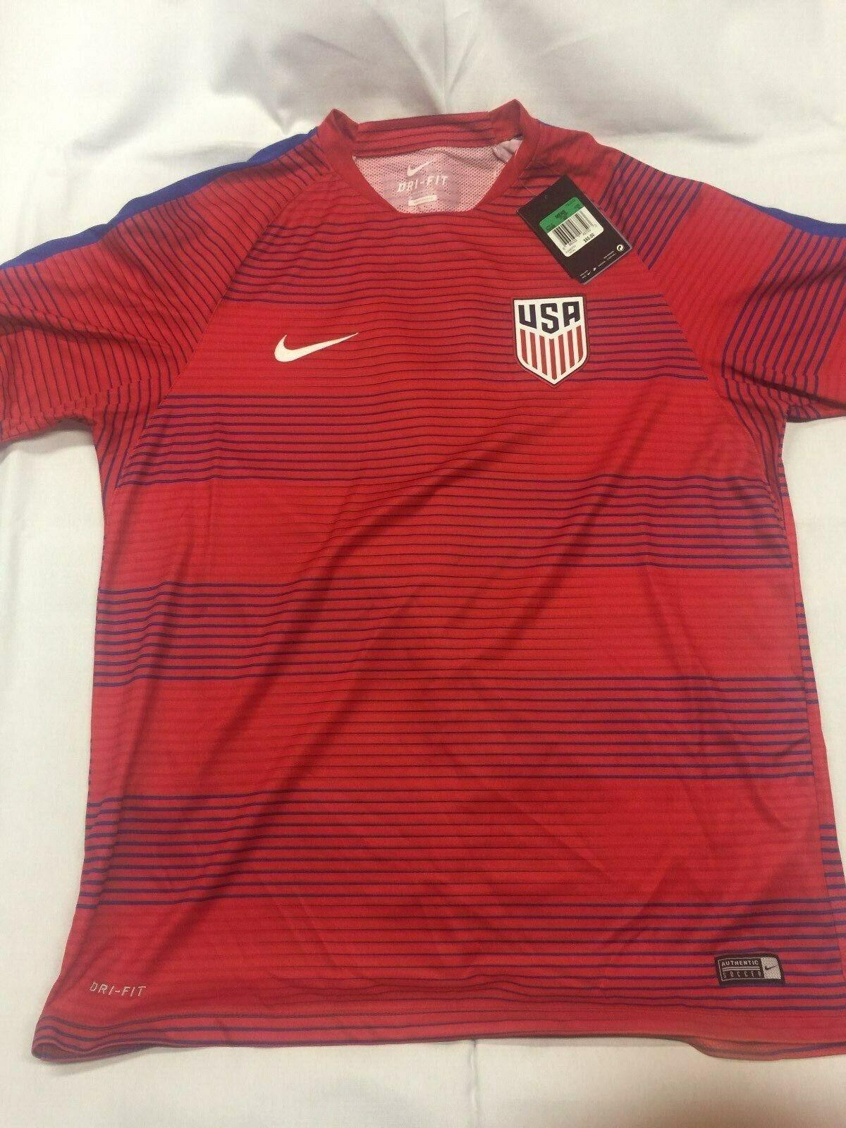 Nike-EE. UU. fútbol Fútbol Jersey-Nuevo Jersey-Nuevo Jersey-Nuevo Estilo-EE. UU. - XL-Rojo-Dri-Fit - Nuevo con etiquetas eb4e51