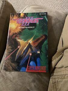 Gradius III 3 SNES Super Nintendo Instruction Manual Only
