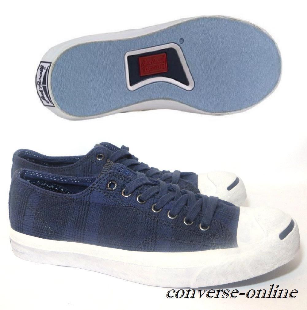 Men's CONVERSE JACK PURCELL Bleu Blanc Garment Dye Baskets Chaussures Taille UK 11