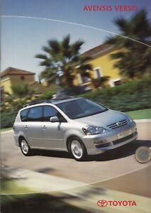 Toyota Avensis Verso Prospekt 08//2001