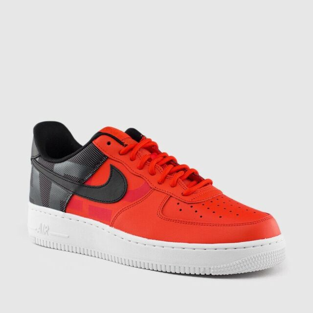 Nike Air Force 1 '07 LV8 Mens Habanero Red Black Low SZ Shoe 11