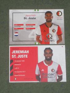 2x HOLLAND Jeremiah St.Juste (Feyenoord) Mainz Heerenveen OHNE UNTERSCHRIFT