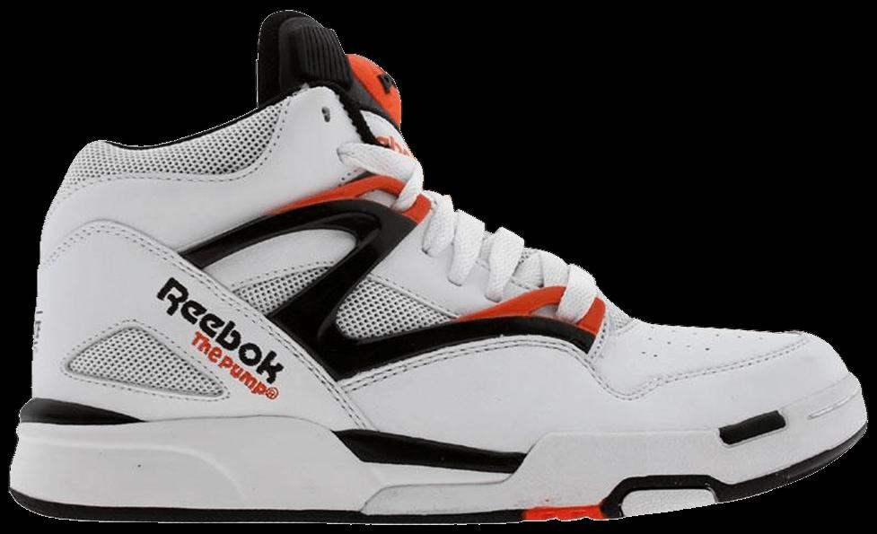 reebok pump white orange