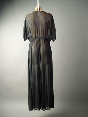 975da129c2 Plus Black Sheer Mesh Long Maxi Cover Up Kimono Caftan 141 mv Jacket 1XL  2XL 3XL   eBay