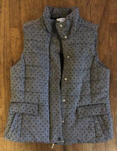 Liz-Claiborne-Women-039-s-Jacket-Size-L-Gray-Vest-W-Black-Polka-Dots-Wool-Blend-NWOT