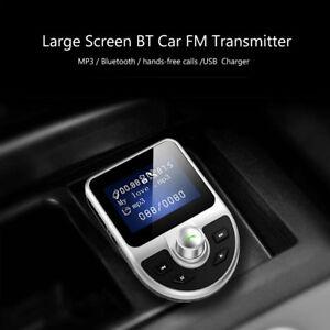 Transmetteur-FM-Bluetooth-Kit-de-Voiture-Sans-Fil-Adaptateur-Chargeur-Dual-USB
