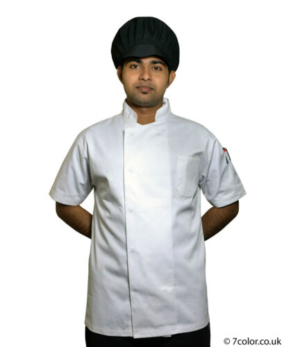 Chef White Jacket Black Trousers Kitchen catering Polly Cotton Clothing workwear