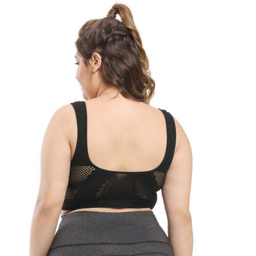 Women Seamless Plus Size Sport Bra Wireless Soft Gym Yoga Top Comfort Vest M-6XL